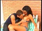 Travesti fodendo na varanda com namorado amador