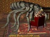 Zoofilia mulher fodendo com aranha gigante