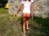 Valeria Brasileirinha Transando gostoso com seu namorado no mato
