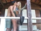 Travesti Brasileira Gostosa transando com namorado dotado e filmando o Video Porno Amador