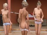 Novinhas cheias de tesão cairam na net em um video com tres Ninfetas Gostoas