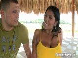Morena Brasileira fodendo com negão dotado socando forte dentro de sua buceta molhada