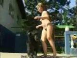 Zoofilia de gostosa pelada com macaco