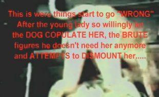 Branquinha do bumbum redondo rasga a xana com rola larga do seu cachorro