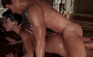 Pornô 3D grátis pauzudo fodendo gostosa e dando um banho de porra